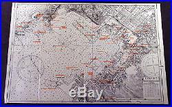 1945 US Army Air Force Original Map of Hiroshima Kure Submarine Naval Base Japan