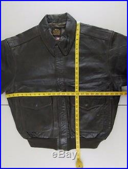 AVIREX A-2 Vintage Leather Motorcycle Jacket US Army Air Force Size XL #VIN103