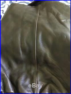Air Force Us Army Type A2 Cockpit Leather Jacket Size Large Brown Bomber