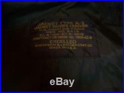 Authentic USA Excelled Type A-2 U. S. Army Air Force Flight Bomber Jacket Large