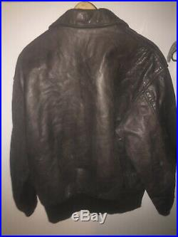 Avirex US Army Airforce Type A2 Leather Jacket Sz 46