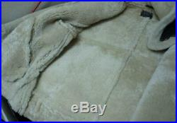 B-3 Aviation Air Force Us Army Style Shearling Sheepskin Jacket Size Large! 1a1