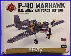 Brickmania Custom LEGO P-40 Warhawk U. S. Army Air Force Edition