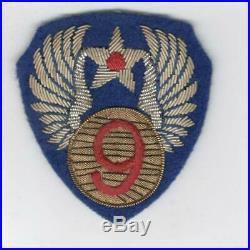 Bullion WW 2 US Army 9th Air Force Wool Patch Inv# Z553