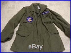 Excellent Cond Vintage Original Us Air Force Army Vietnam M65 Field Jacket 1972