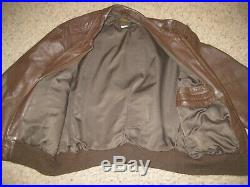 Flight Suits LTD Type A-2 Leather Bomber Jacket Air Force U. S. Army 48 Regular