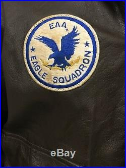 Flight Suits Ltd. A-2 US Army Air Force Leather Flight Bomber Jacket Size 50R