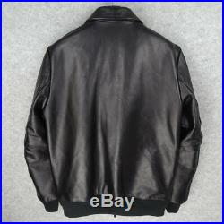 Horsehide Type A-2 US Army Air Forces Flight Bomber Leather Jacket Black 3XL 44