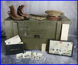 KIA US Army Air Force Corp officer cadet soldier pilot USAF NAME group trunk WW2