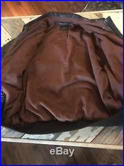 Mint US Army Air Force A2 A-2 Leather Flight Jacket 48 Goatskin Brown Bomber Vtg