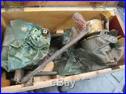 New in Crate Set of 2 Bomb Hoist, US Army Air Force WWII Vintage B-24 Parts