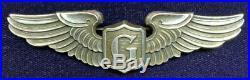 ORIGINAL WW2 US Army Air Force Sterling Glider Pilot Wing 3 in Balfour LGB PB