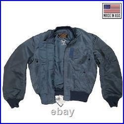 Original MA1 Jacket US Vintage Heavy Weight Army Military Bomber Navy Medium