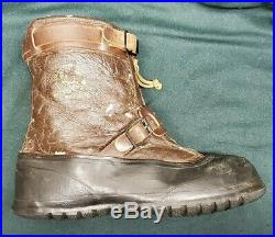 Original US WWII Pilot Army Air Force Leather Flying Boots Type A-6A Size 12-13