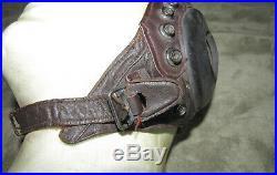 Original WW II US Army Air Force Leather A-11 Flight Helmet, Large AAF