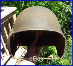 Original WW2 US Army Air Force Military M3 Gunner's Flak Helmet