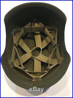 Original Wwii Us Usaaf M3 Flak Army Air Force Helmet Ww2