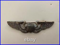 Pk617 Original WW2 US Army Air Force Metal Pilot Wings Stamped Pin Back WC7