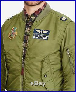 Polo Ralph Lauren Men MA-1 Military Army US Air Force Flight Bomber Pilot Jacket