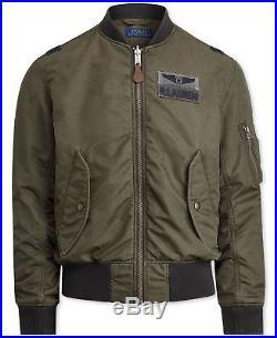271c76ef5e Polo Ralph Lauren Men MA1 Military Army US Air Force Flight Bomber Pilot  Jacket