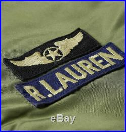 Polo Ralph Lauren Men Military US Army MA-1 Air Force Flight Bomber Pilot Jacket