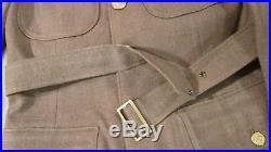 Pre WWII Uniform US Army Air Force Class A Uniform Jacket Ike Patch Chevron Pin