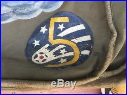 Rare WW2 US Army USAAF B-24 Bomber Bag with Folk Art Air Force