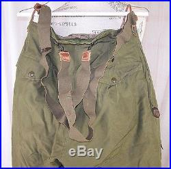 Superior Togs WW2 U. S Army Air Force Type A-11 Flyer Lined Trousers size 30 VTG