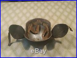 U. S. WW2 Used M3 Flyers Flak Helmet U. S. Army Air Force Pilot- Crew