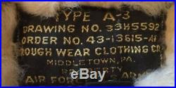 US Army Air Force A-3 Leather Sheepskin Flight Pants Rough Wear Clothing 40 R