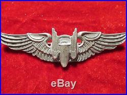 US Army Air Force AAF Aerial Gunner wing 3 in pinback Moody Bros maker