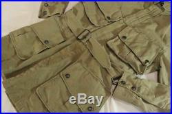 US Army Air Force Men's Parachute Jacket Khaki 40's Vintage Military Y138