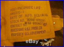 US Army Air Force-Navy-USMC Life perserver Vest. (May West)