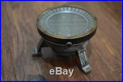 US Army Air Force WWII Aircraft Compass Type D-12 Aviation Nautical Vintage