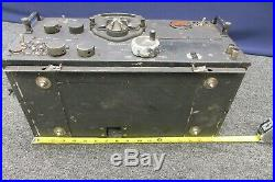 US Army Air Force WWII Aircraft Radio Transmitter Receiver Vintage AC Powered