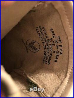 US Army Airforces Air Force Antique WW2 Leather Gloves Size Medium White