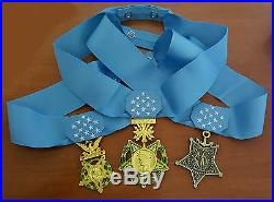 US Army Navy Air Force MEDAL OF HONOR and RIBBON Full Size Replica