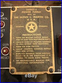 US WW2 WWII Army Air Force B-17 Ball Turret M2 Gun Control Mechanism Trigger