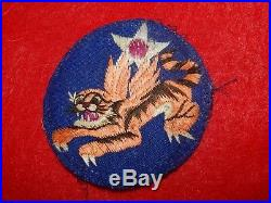 Uncommon Wwii Us Army 14th Airforce Flying Tigers Patch China Made Silk