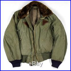 Us Army Air Forces Corps Usaaf Flight Jacket Type B-15a Rough Wear Size 38