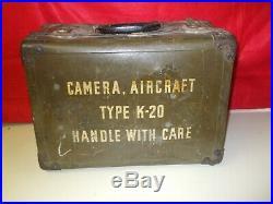 Us Army Air Forces K-20 Aircraft Camera Fairchild / Folmer Graflex Wwii Period