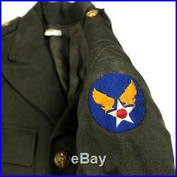 Us Army Air Forces Usaaf Officer Od Wool Gabardine Dress Jacket 37r Af Patch