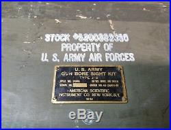 Usaf Us Army Air Force Gun Bore Sight Type J2 J-2 Complete Rare Group 1943