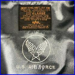 VINTAGE 50s US Air Force Type L-2A Repro Mens Size XL Blue Flight Bomber Jacket