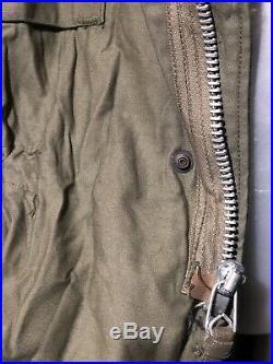 VTG 60s M1965 M65 Vietnam War Era US Army air Force JACKET OG-107 Sz Large