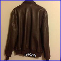 VTG US AIR FORCE US ARMY LEATHER BOMBER JACKET Type A2 USA MADE SIZE 46