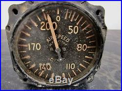 Vintage 1940s airspeed airplane gauge U. S. Army Air Force aircraft parts WWII