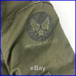 Vintage 40's WW2 US Army Air Force B-15 Military Flight Jacket