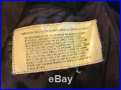 Vintage AVIREX US ARMY AIR FORCES TYPE-2 Brown Worn Leather Flight Jacket Size L
