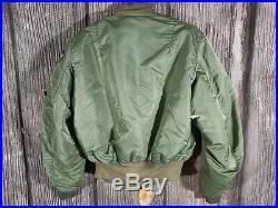 Vintage Alpha Industries Us Air Force Flight Ma-1 Green Army Flying Jacket XL